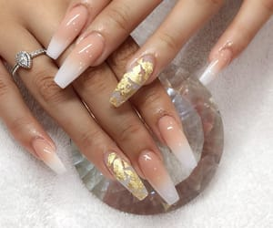 nails, gold, and pretty image