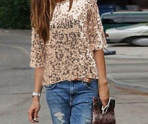 jeans, sequins, and style image