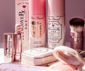 cosmetics, makeup, and peach image