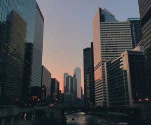 chicago, pink sky, and pretty image