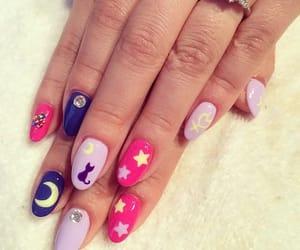 belleza, nail, and sailor moon image