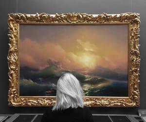 art, gold, and hairstyle image