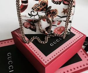 bag, flowers, and gucci image