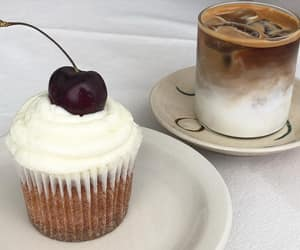 coffee, drink, and cupcake image