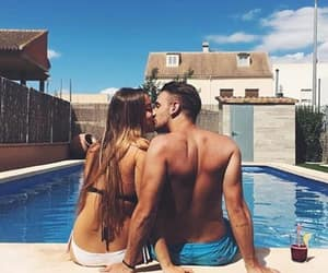 couple, Relationship, and summer image