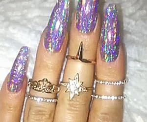 gif, sparkly, and nails image