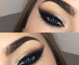 beautiful, eye shadow, and eyebrows image