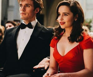red dress, sam claflin, and emilia clarke image