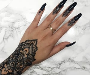 girl, Nude, and nails black image