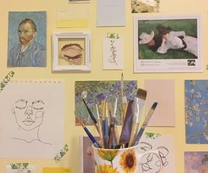 art, Brushes, and wall image