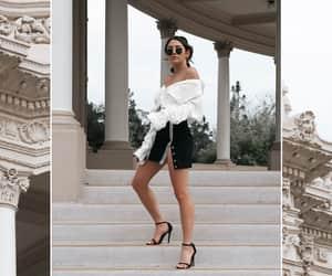 black and white, peaceloveshea, and fashionlush image