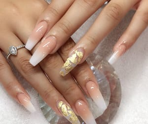 beauty, nails, and ombre nails image