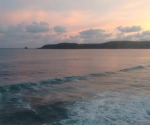 ocean, sunset, and méxico image
