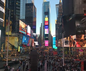 ny, timesquare, and travel image