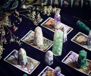 astrology, cards, and crystals image