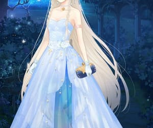 anime, blue dress, and Queen image