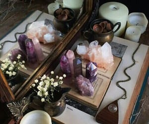 astrology, candles, and crystals image