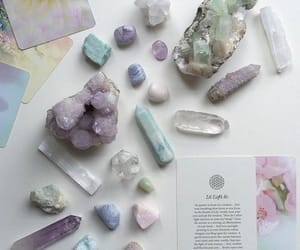 crystals, fortune, and tarot image