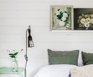 bedroom, deco, and green image