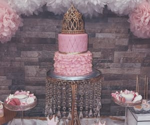 art, cake, and crown image