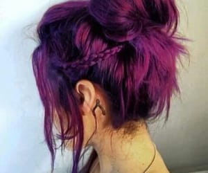 hair, colored, and hair style image