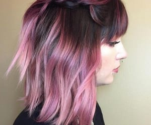 colored, hair, and pink image
