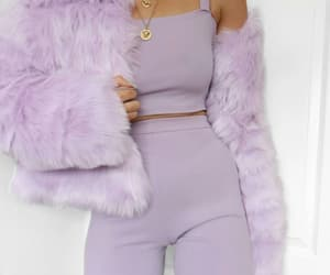 girls, purple, and fashion goals image