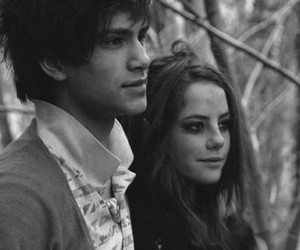 black and white, couple, and Effy image