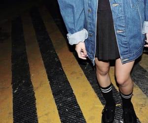 grunge, jacket, and night image