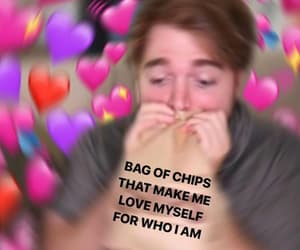 shane, shane dawson, and bag of chips image