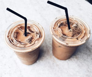 aesthetic, iced coffee, and minimal image