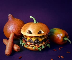 burger, food, and Halloween image