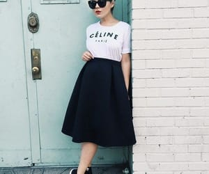 black skirt, moda, and primavera image