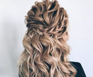 blond hair, long hair, and waves image