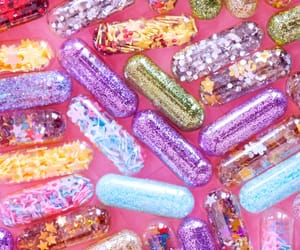 pills, colourful, and glitter image