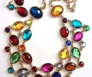 acrylic, earrings, and necklace earrings image