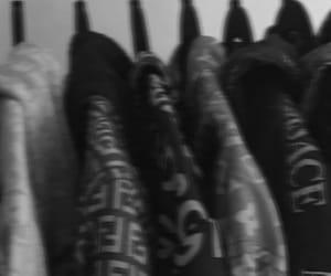 b&w, black, and Versace image