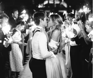 couple, kissing, and wedding image