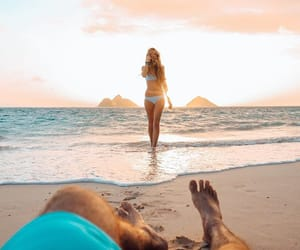 beach, girl, and vibes image