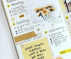 yellow, bujo, and bullet journal image