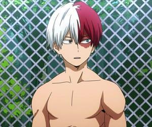 anime, anime boy, and fire image