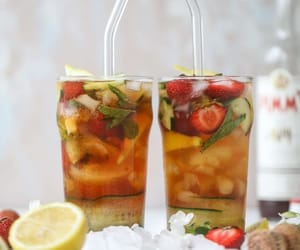 boozy, drink, and food image