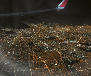 airplane, aviation, and city image