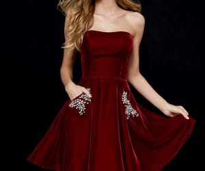 burgundy, dress, and fashion image