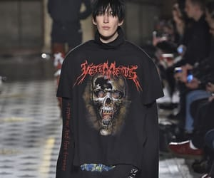 black, vetements, and catwalk image