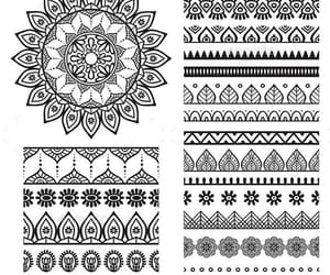 drawing, mandala, and pattern image