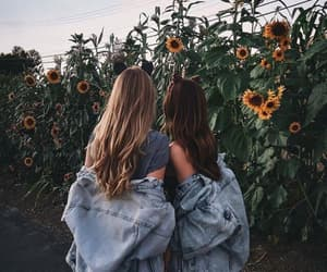 best friends, sisters, and brown&blond image