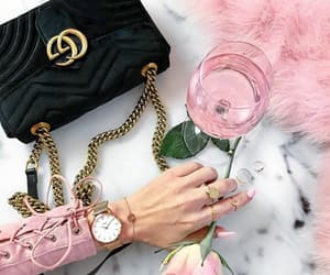 bag, bracelet, and champagne image