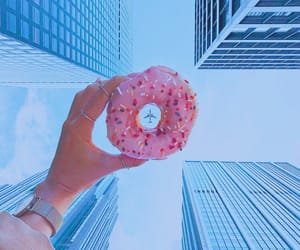 donuts, sky, and food image