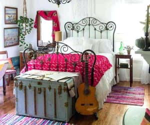 bedroom, boho, and home image